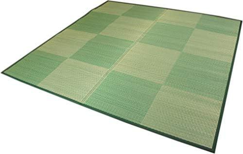 い草裏貼カーペット 「光妙」 グリーン色 江戸間8畳 348x352cm【裏貼花ござ】