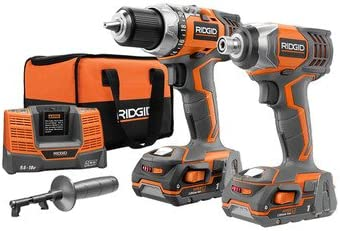 Ridgid R9600 X4 Hyper 18V Cordless Lithium-Ion 1 2 in. Drill Driver and Impact Driver Combo Kit