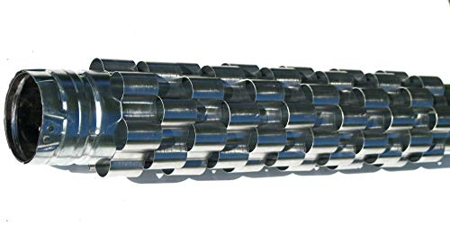 Aluminum Pellet Stovepipe Heat Exchanger on whit background.