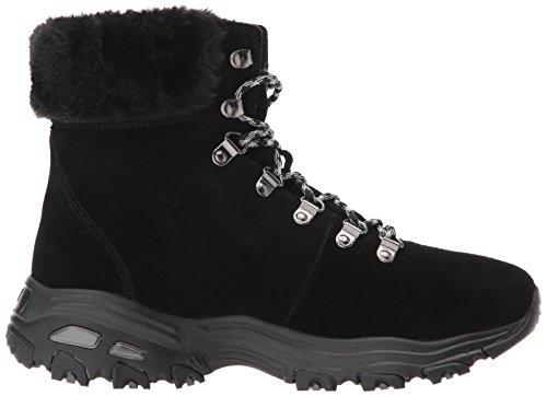 D'Lites Mujer Alps Negro Blk para Botas Black Estilo Skechers Motero qxg6FSwSH