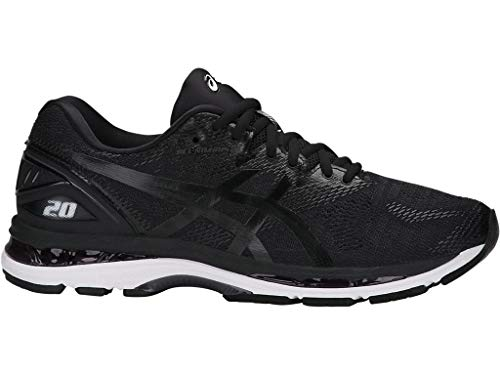 ASICS Men's Gel-Nimbus 20 Running Shoe, Black/White/Carbon, 13 4E US
