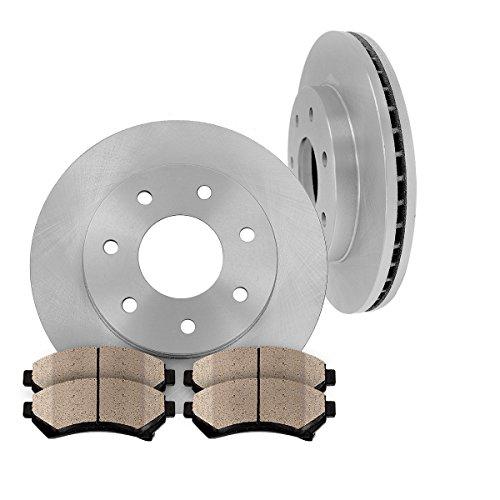 4wd Front Premium Brake Pads ([ 4WD ] FRONT 308 mm Premium OE 7 Lug [2] Brake Disc Rotors + [4] Ceramic Brake Pads)