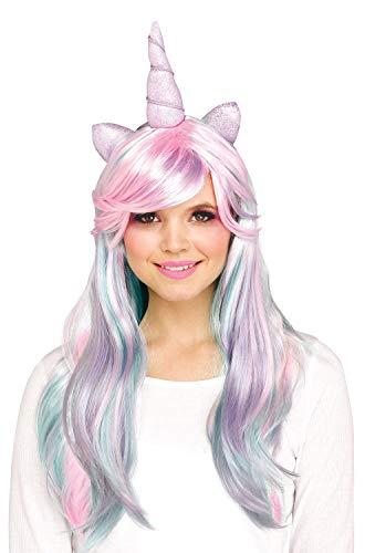 Unicorn Costume Wig (Funworld Pastel Unicorn Wig (One)