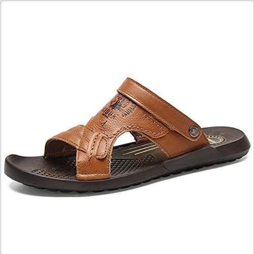 Traspiranti 24 pantofole In E CM Pelle Per Sandali Wagsiyi Doppie Marrone spiaggia Scarpe da 0 Libero Sandali Pantofole 27 0 Da Il Tempo Antiscivolo Scarpe Spiaggia TqfdxaE