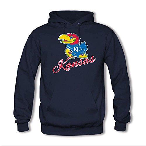 Men's Kansas Jayhawks Classic Primary Logo Hoodie Royal Blue