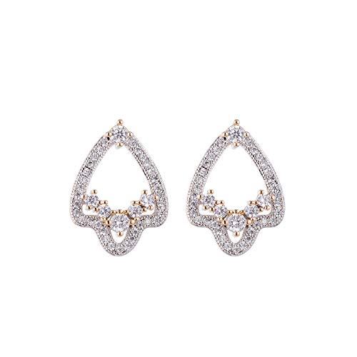 Cubic Zirconia Stud Earrings, JoJo Gold Plated Arrowhead Diamond Crystal Earring (Crystal Arrowhead Earrings)