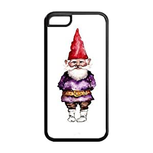 Fashion Dwarf,Funny Gnome Rubber TPU Case Cover For IPhone 5C (Dwarf,Funny Gnome)