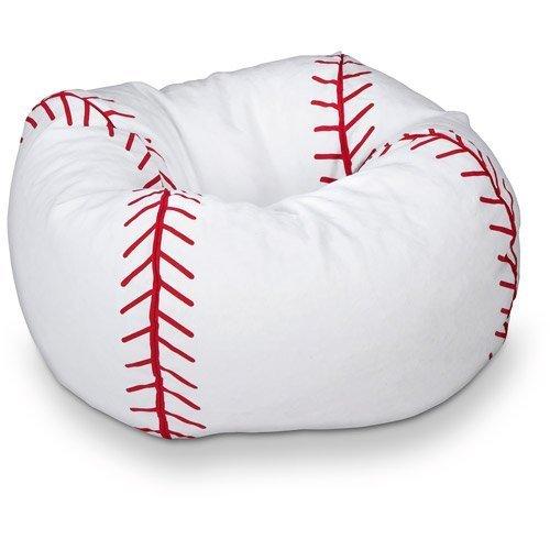 96 Round Vinyl Bean Bag, Baseball by X Rocker