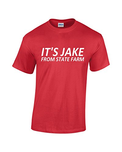 Crazy Bros Tees Jake. From State Farm - Funny Men's T-Shirt (X-Large, Red)