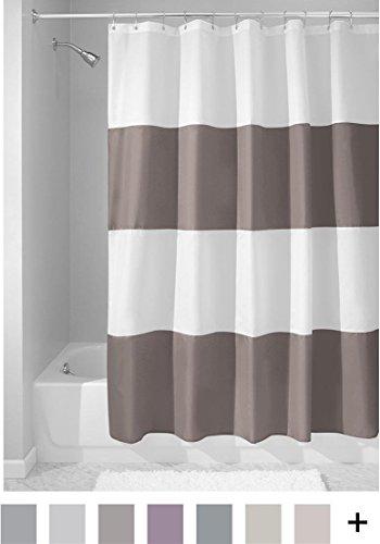 41B5HEhHfNL - InterDesign Mildew-Free Water-Repellent Zeno Fabric Shower Curtain