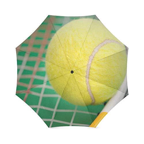 Tennis Ball Foldable Rain Umbrella Compact Parasol/Sun Umbrella by Tennis Ball