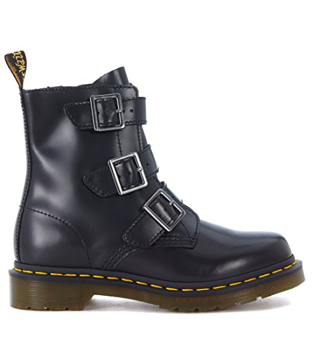 Dr. Martens Women's Blake Black Leather Ankle Boots With Straps and Zip 40(IT)-10(US) Black by Dr. Martens