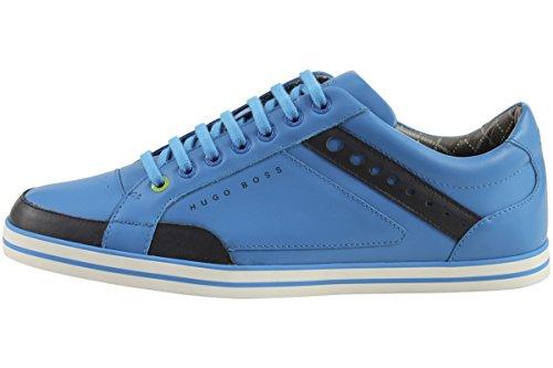 Hugo Boss Mens Sneakers Fashion Apache League In Pelle Scarpe 50254494 Blu Medio