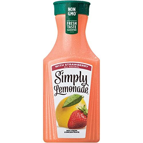 - Simply Lemonade with Strawberry, All Natural Non-GMO, 52 fl oz