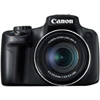 Canon PowerShot SX50 HS 12MP Digital Camera with 2.8-Inch LCD (Black) - International Version (No Warranty)