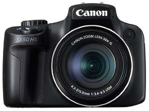 Canon PowerShot SX50 HS 12MP Digital Camera with 2.8-Inch LCD (Black) - International Version (No Warranty)