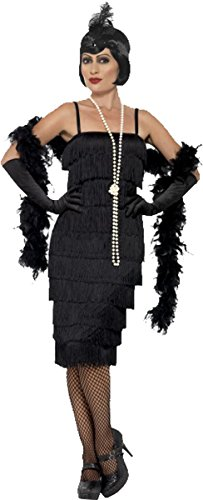 Flapper Costume Uk Dress 20-22 (Black Flapper Dress Costume Uk)