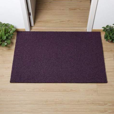 Purple 100x120cm(39x47inch) Non-Slip Door Mat, Carpet Front Door Carpet for Doorway Stairs Insole Balcony Front Door-Black 60x90cm(24x35inch)