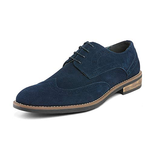 Bruno Marc Men's URBAN-03 Navy Suede Leather Lace Up Oxfords Shoes - 10.5 M US