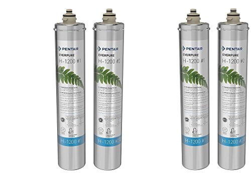 Everpure H-1200 Water Filter Replacement Cartridge Set (EV9282-01) (2 Pairs) by Everpure