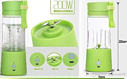New 2017 Juicer Mixer and Grinder Portable USB Chargeable Electric-380ML Random Color