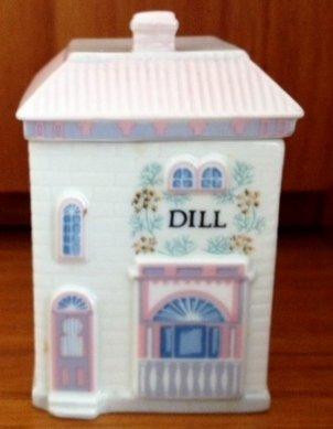 Lenox 'Spice Village' Porcelain Victorian House Spice Jar - Dill