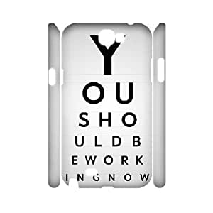 3D Samsung Galaxy Note 2 Cases You Should Be Working, Samsung Galaxy Note 2 Cases Quote Motivation Cheap For Girls, [White]