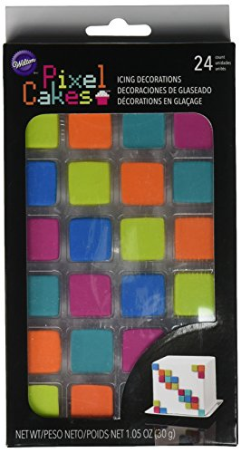 Price comparison product image Wilton Pixel Cakes Icing Decorations,  24 count