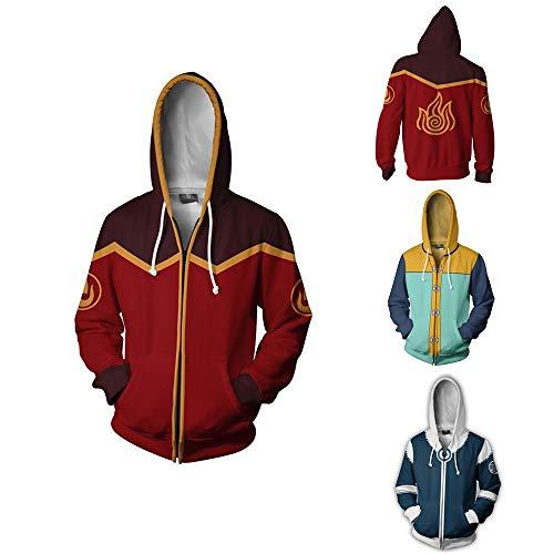 Anime Avatar The Last Airbender Katara Cosplay Costume 3D Hoodie Jacket (M, Color 1) ()