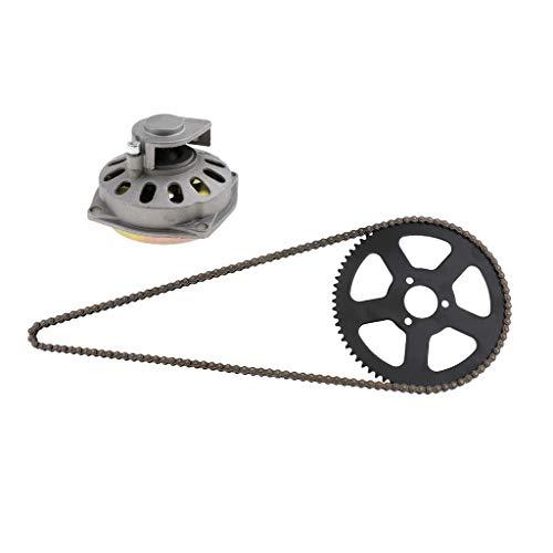 Shiwaki Clutch Drum Bell Housing & Sprocket Disc & Chain Replacement for 49cc 2 Stroke Mini Pocket Bike: