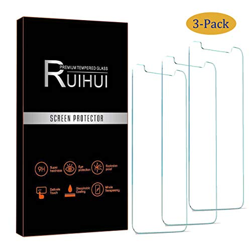 [3-Pack] LG V40 ThinQ Screen Protector,RUIHUI Premium 9H Glass Dustfree HD Clear Anti-Scratch Bubble FreeCase Friendly Tempered Glass for LG V40 ThinQ 2018/LG V40[Lifetime Replacement Warranty]