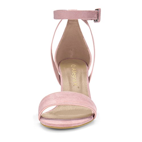 Light Heel Women's K Chunky PU Panel Pink Allegra Sandals BT0wqHB