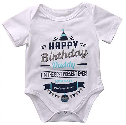 - Sale Newborn Infant Baby Boy Girl Clothes Short Sleeve Bodysuits Jumpsuit Birthday Party Cotton Clothes 0-18M