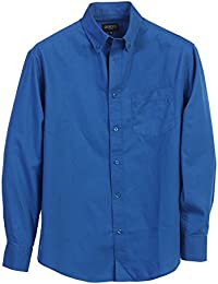Mens Long Sleeve Casual Twill Shirt