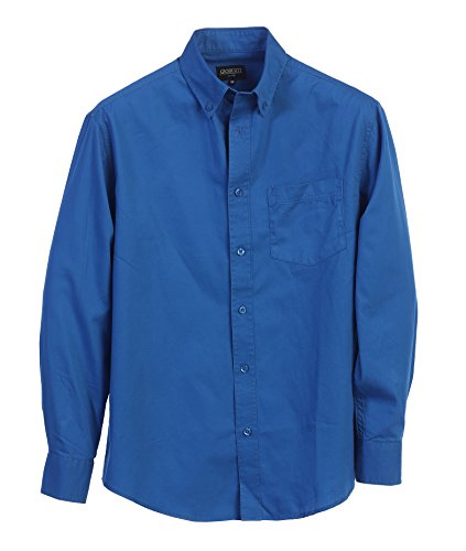 Gioberti Mens Long Sleeve Casual Twill Shirt, Royal Blue, Large