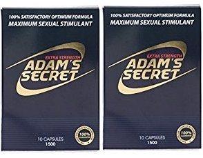 Adam's Secret 1500 100% Natural Male Libido Performance Enhancement 10 Pack (2 Pack)