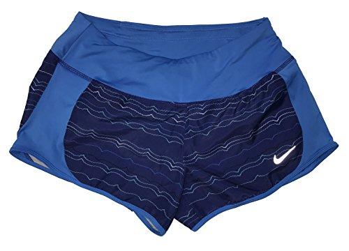 Nike Womens Peak Tempo Printed Running Shorts (Small, Royal Blue)