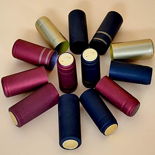 Casavidas - 100 piezas de accesorios para manualidades, PVC termorretráctil, tapa de sellado de vino, botella de vino tinto...