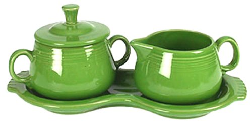 Fiesta Covered Sugar and Creamer Set with Tray, Shamrock