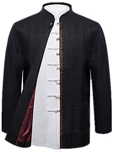 Chinese National Costume (Mulberry Silk High-end Tang Suit National Costume Individuality Retro Jacket Coat Men's dress Full dress)
