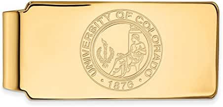 14k Yellow Gold LogoArt Official Licensed Collegiate University of Colorado (UC) Money Clip Crest