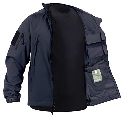 Rothco Concealed Carry Soft Shell Jacket, Midnight Navy Blue, - Midnight Coat Blue