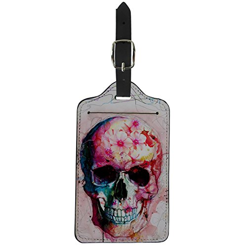 - FancyPrint Flowers Print Leather Luggage Tags Travel Bag Tag