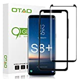 Galaxy S8 Plus Screen Protector Tempered Glass, OTAO 3D Curved Dot Matrix [Case Friendly] Galaxy S8 Plus Glass Screen Protector (6.2'') with Installation Tray for Samsung Galaxy S8 Plus