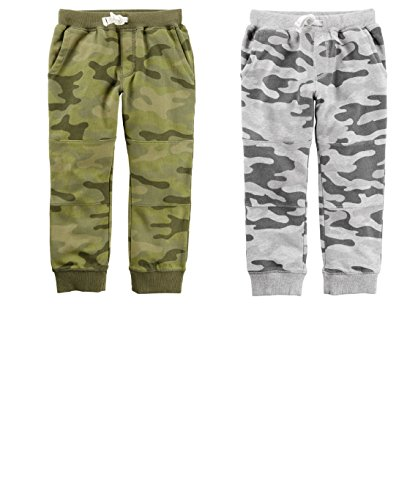 Carter's Toddler Boys 2 Pack French Terry Active Pants 2-5T (4T)