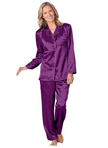 Brushed Back Satin Pajamas (AmeriMark Brushed Back Satin PJS)