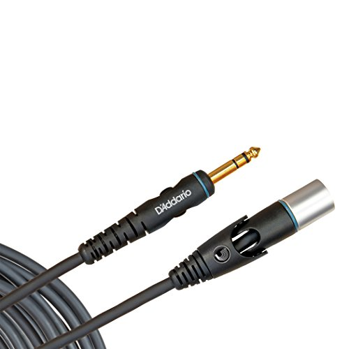 Planet Waves Custom Series Microphone Cable, XLR Male to 1/4 Inch, 10 feet