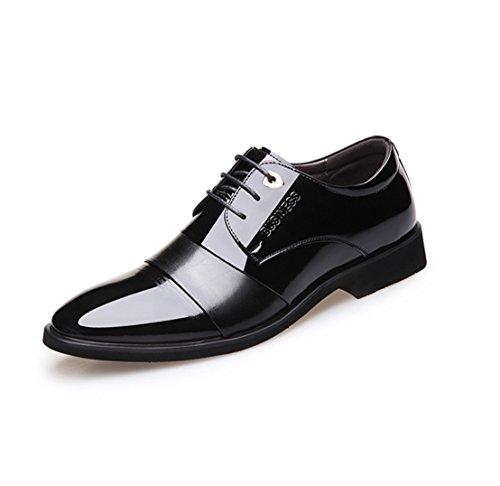 verni pointu travail hommes black pour robe dentelle pour respirant en Chaussures Derby pointu Chaussures Chaussures cuir habillées de hommes en chaussures intelligente chaussures WSK qxgXw8HEW