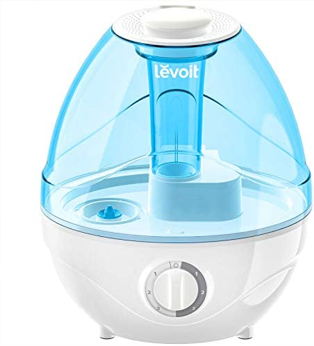 LEVOIT Cool Mist Humidifiers for Bed room, 2.4L Ultrasonic Air Vaporizer for Infants [BPA Free], 24dB Extremely Quiet, Elective Night time Mild, Filterless, 0.63gal, Blue