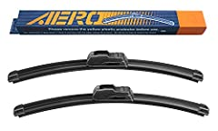 Each purchase includes 2 genuine AERO premium all-season wiper blades. The AERO wipers use top quality materials and pass strict QC testings. This product offers all the quality and durability of the major brand names, but at a fraction of th...